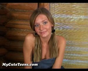 bella chica de ojos lindos en casting