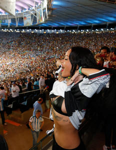 Rihanna FIFA World Cup Final Soccer Match 07-13-2014