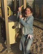 Marie Ange Casta - Perky Pole Fun in hot tight jeans