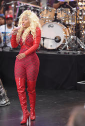 Nicki Minaj - Red Body Tight Suit On The Today Show (8/14) Ass Shots!