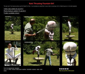 House of Gord: Butt Thrusting Fountain Girl